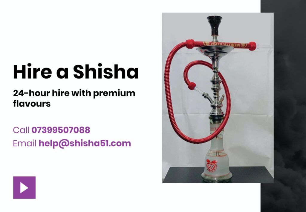 Hire a shisha today for 24 hours